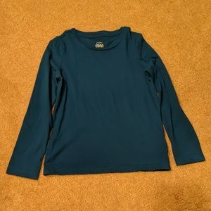 Long sleeve teal shirt size 10/12